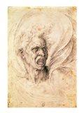 Study of a man shouting Art Print