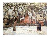 Chestnut Trees at Louveciennes, c.1871-2 Art Print