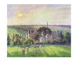The Church and Farm of Eragny, 1895 Art Print