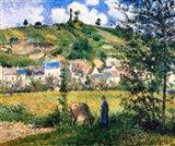 Landscape at Chaponval, 1880 Art Print