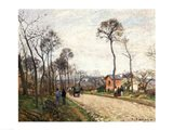 The Road from Louveciennes, 1870 Art Print