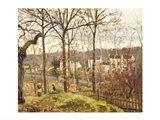 Winter Landscape at Louveciennes, c.1870 Art Print