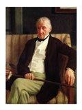 Portrait of Hilaire Degas Art Print