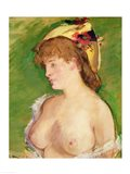The Blonde with Bare Breasts, 1878 Art Print