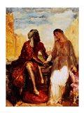 Othello and Desdemona in Venice, 1850 Art Print