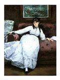 The Rest, portrait of Berthe Morisot Art Print