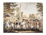 The British Surrendering to General Washington after their Defeat at Yorktown Art Print