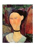 Woman with a Velvet Neckband, c.1915 Art Print