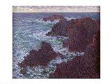 The Rocks at Belle-Ile, the Wild Coast, 1886 Art Print