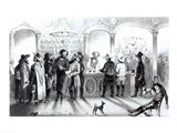 The Bar of a Gambling Saloon Art Print