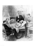 President Garfield Lying Wounded in his Room at the White House, Washingto Art Print