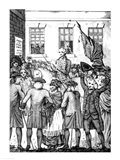 The Manner in which the American Colonists Declared Themselves Independent of the King, 1776 Art Print