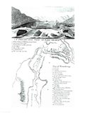 A Perspective View of Lake George and a Plan of Ticonderoga Art Print
