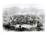 The Indian Battle and Massacre near Fort Philip Kearney Art Print