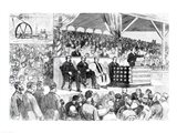 The Atlanta International Cotton Exposition: Opening Address by Governor Colquitt Art Print