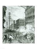 The Great Strike: The Sixth Maryland Regiment Fighting Its Way Through Baltimore Art Print