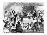 Sitting Bull Council, 1877 Art Print