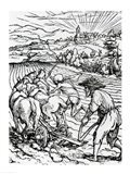 Death and the Ploughman Art Print