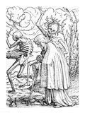 Death and the Old Woman Art Print