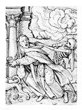 Death and the Mendicant Friar Art Print