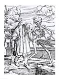 Death and the Old Man Art Print