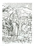 Death and the Bishop Art Print