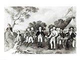 The Surrender of General Burgoyne Saratoga, New York, 17th October 1777 Art Print
