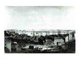 Boston Harbour, 1854 Art Print