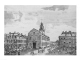South West View of The Old State House, Boston, 1881 Art Print