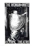Poster for the stage version of 'The Woman in White' Art Print