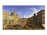 View of the Piazza Navona, Rome Art Print