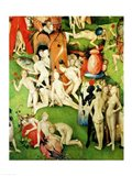 The Garden on Earthly Delights: Allegory of Luxury, central panel of triptych, c.1500 Art Print