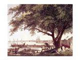 The City and Port of Philadelphia Art Print