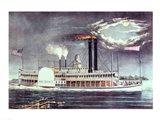 Moonlight on the Mississippi Art Print