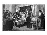 Performing the Operation of the Transfusion of Blood at the Hospital of Pity Art Print