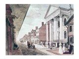 High street with the first Presbyterian Church, Philadelphia, 1799 Art Print