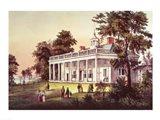 Washington's Home, Mount Vernon, Virginia Art Print