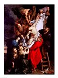 The Descent from the Cross, central panel of the triptych Art Print