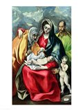 The Holy Family with St.Elizabeth Art Print