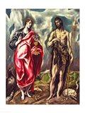 St John the Evangelist and St. John the Baptist Art Print