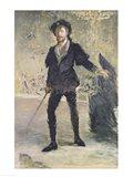 Jean-Baptiste Faure in the Opera 'Hamlet' by Ambroise Thomas Art Print