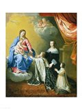 The Virgin Mary gives the Crown and Sceptre to Louis XIV, 1643 Art Print