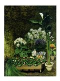 Flowers in a Greenhouse, 1864 Art Print