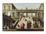 Castle Courtyard, 1762 Art Print