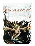 America a Prophecy; 'Thus wept the Angel voice', the emergence of Orc Art Print