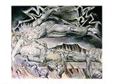 Illustrations of the Book of Job; Job's Evil Dreams Art Print