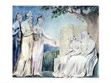 Illustrations of the Book of Job; Job accepting Charity, 1825 Art Print