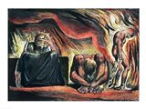 Jerusalem The Emanation of the Giant Albion;  Vala, Hyle and Skofeld, showing the crowned Vala Art Print