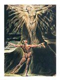 Jerusalem The Emanation of the Giant Albion; Albion before Christ crucified on the Tree of Knowledge and Good and Evil Art Print