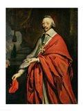Portrait of Cardinal de Richelieu Art Print